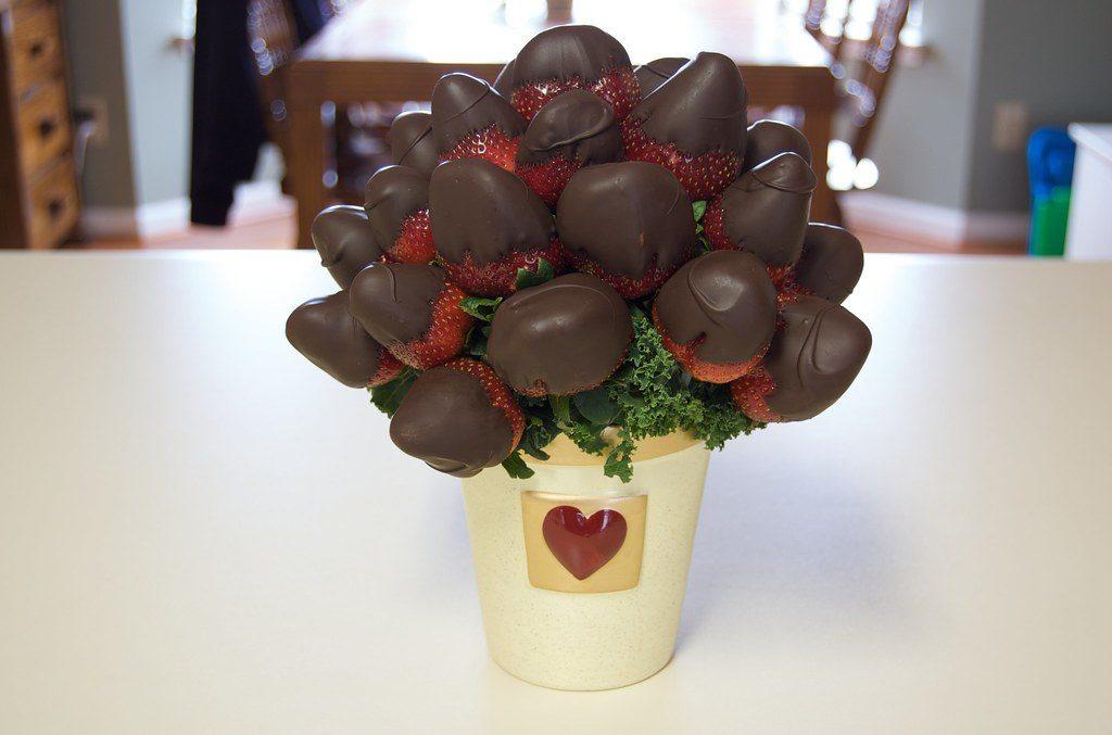buquê para daminhas de chocolate