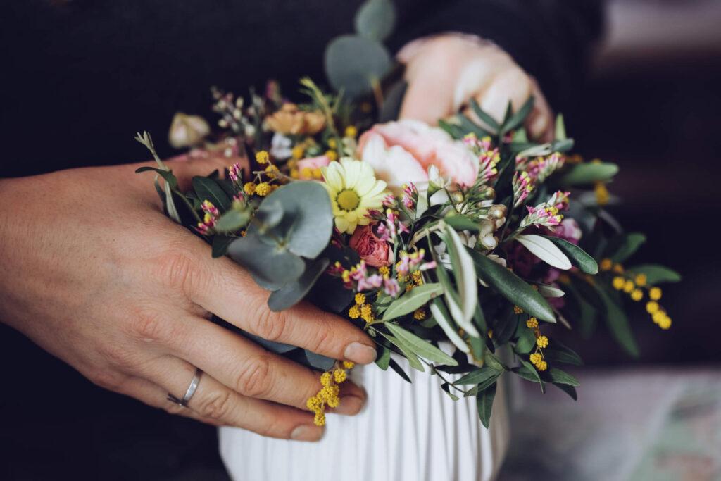vasos para arranjos de flores