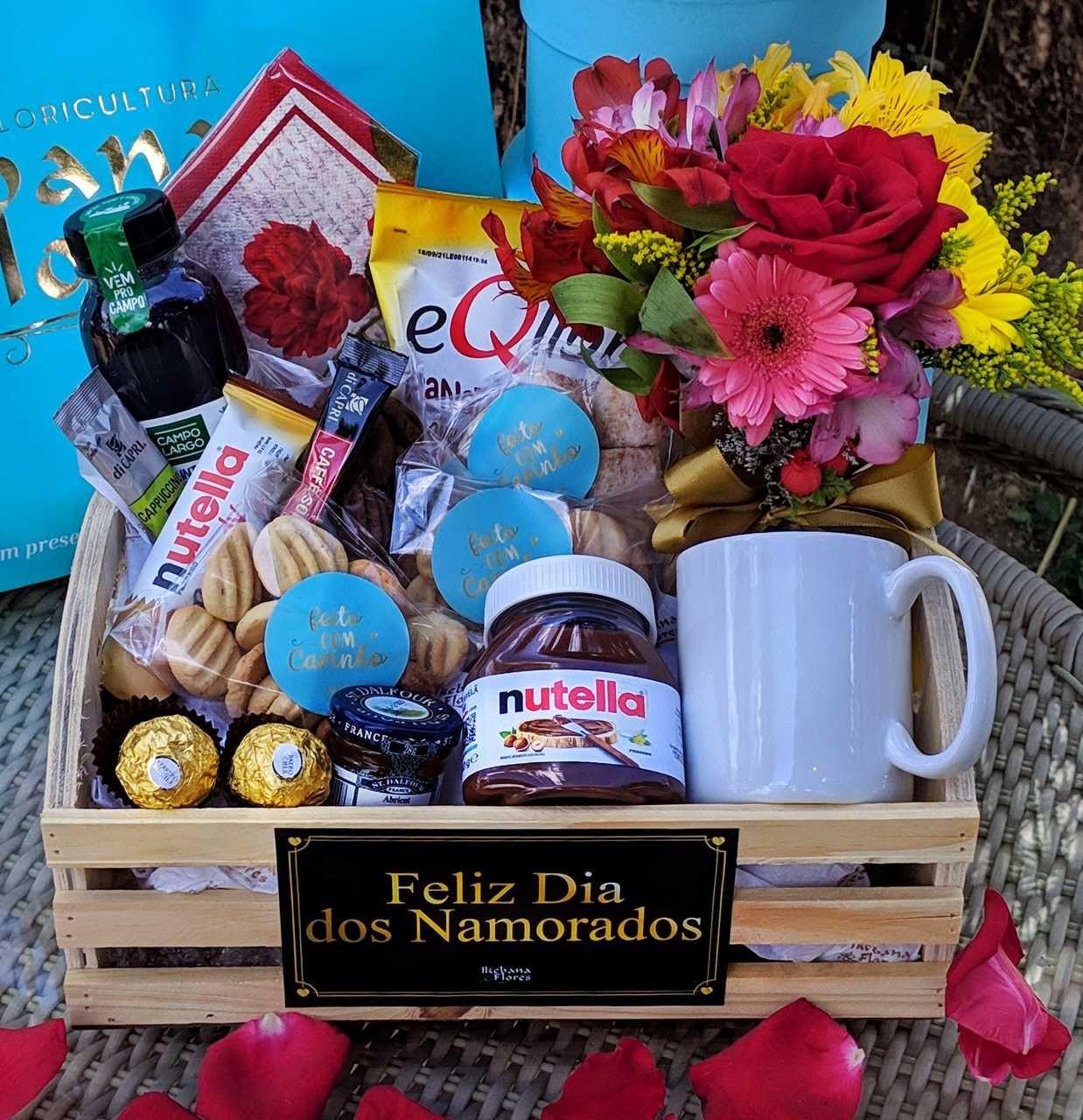 Cesta Radiante de flores mistas Dia dos namorados!