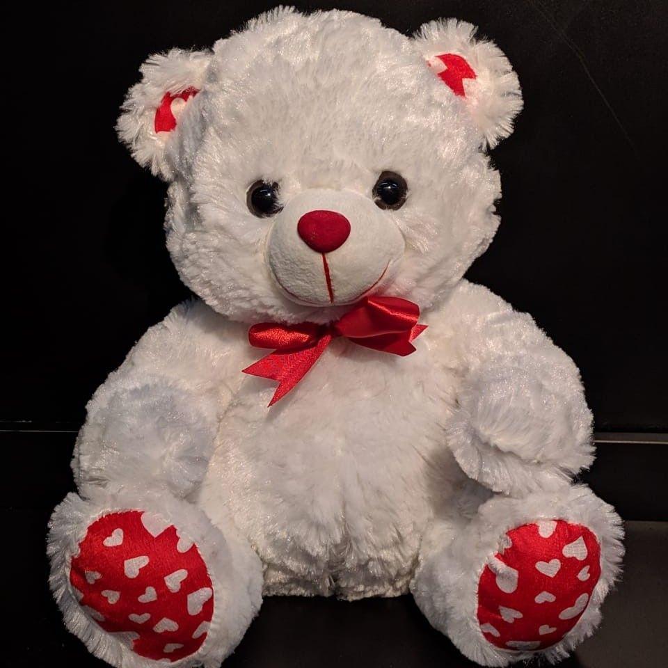 Urso de pelúcia Branco - Médio