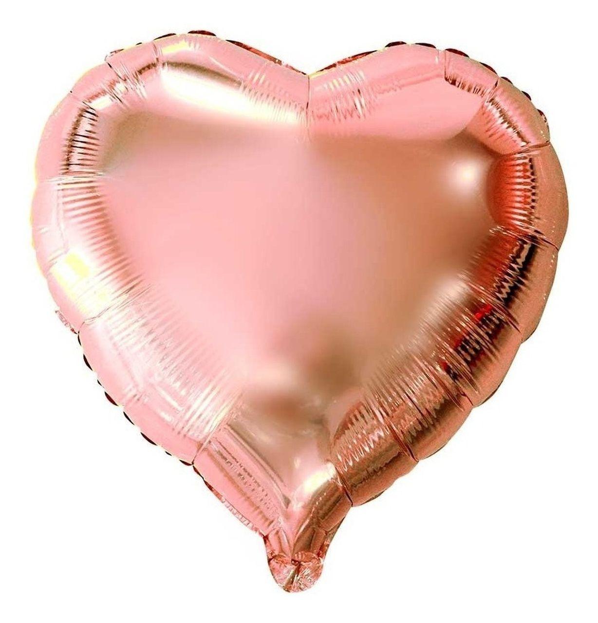 Balão gás Hélio Rose Gold - Complemento