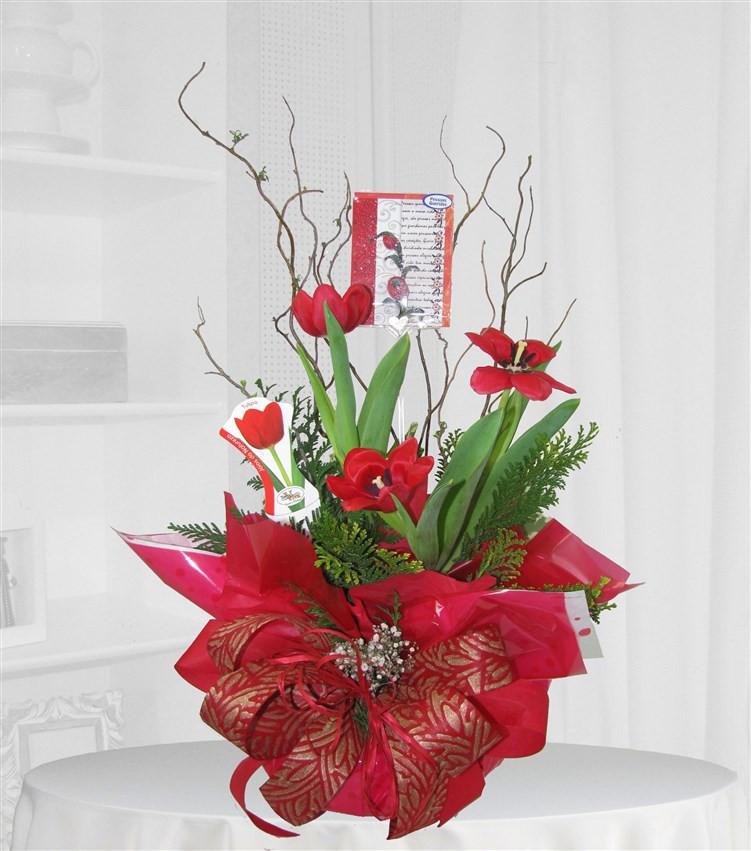 Vaso de Tulipa na Embalagem especial