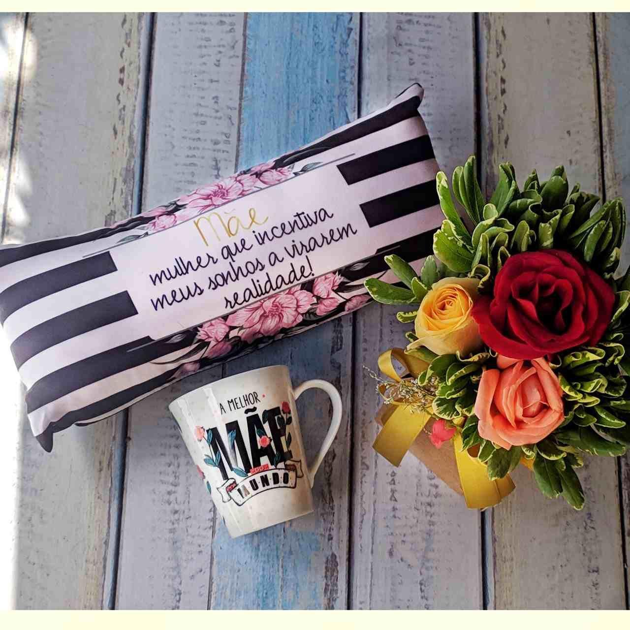 Kit Mãe - Rosas Coloridas