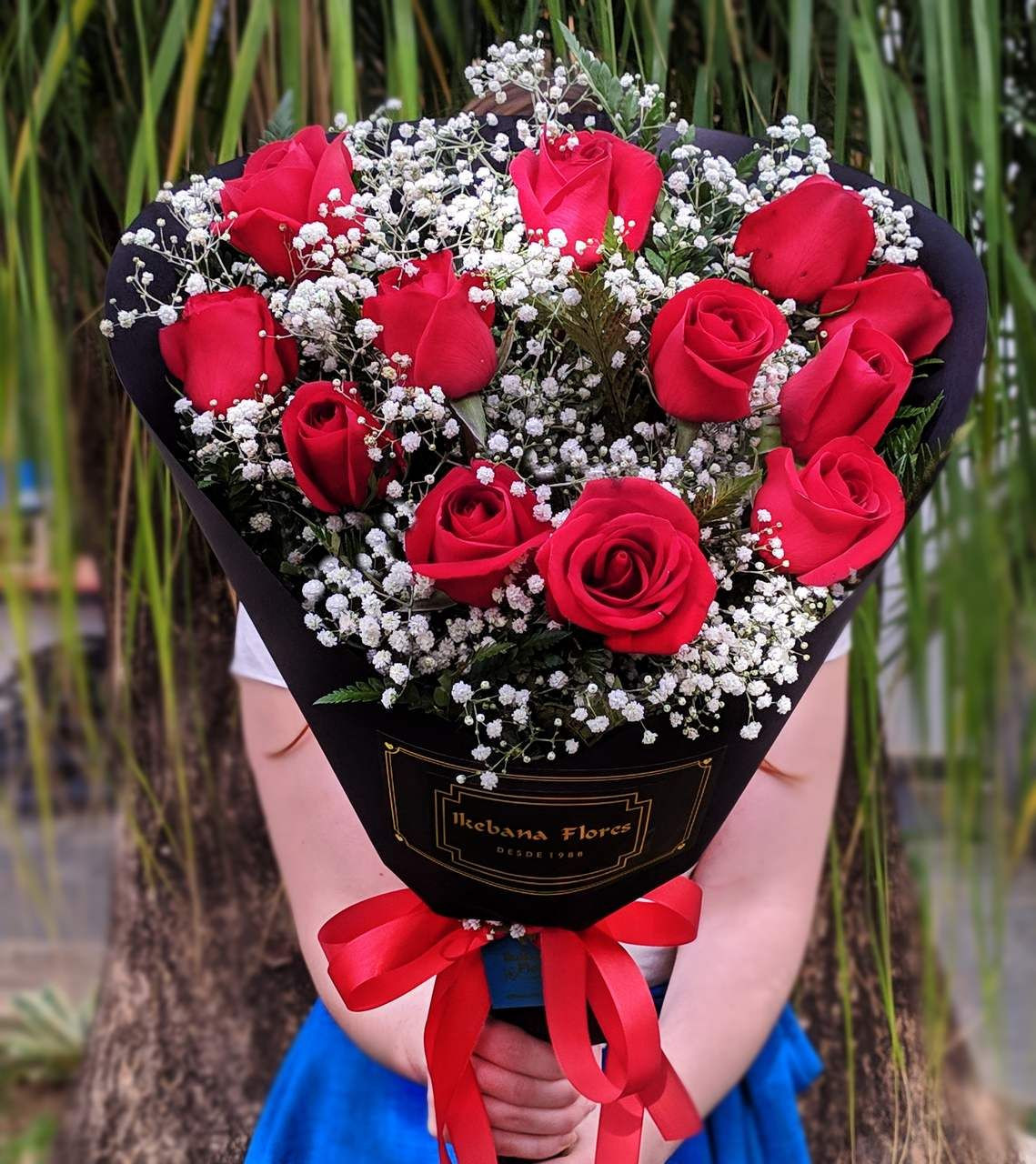 Buque de flores rosas - flores bh