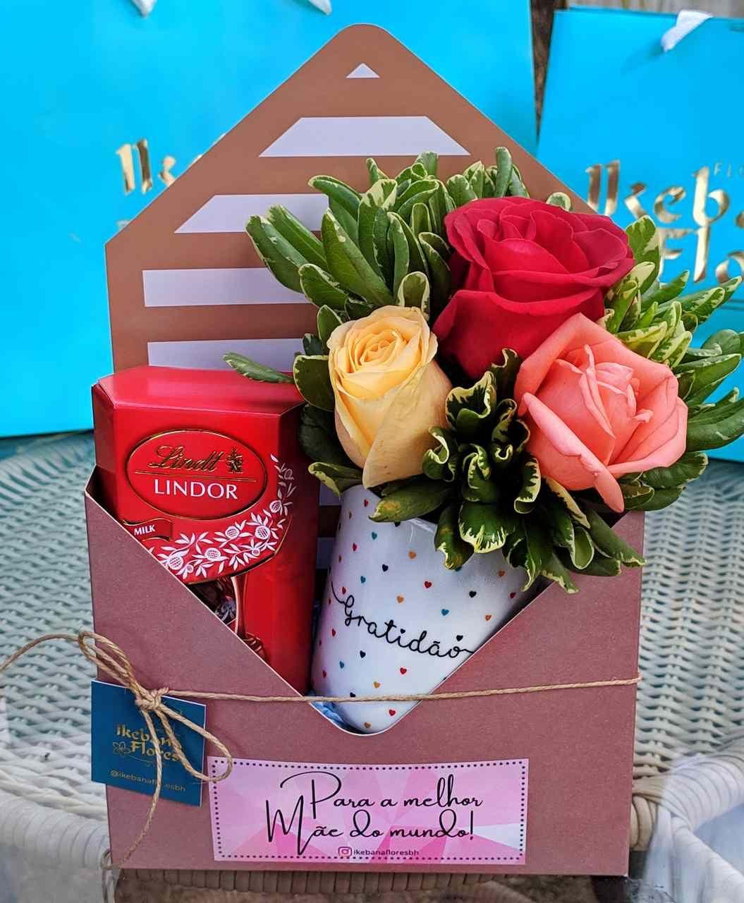 Kit Carta com Flores
