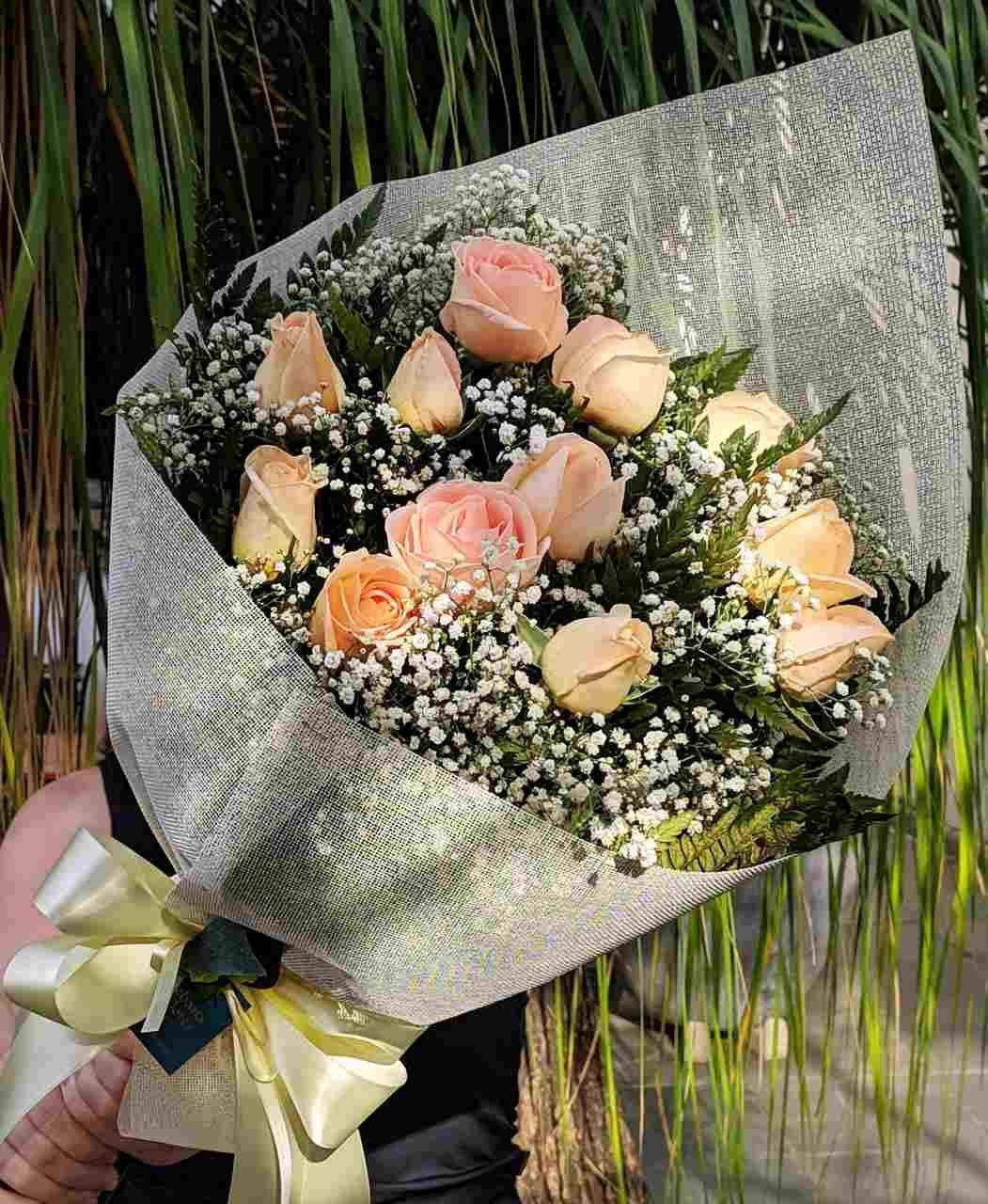 Buquê de rosas chá para entregas em BH