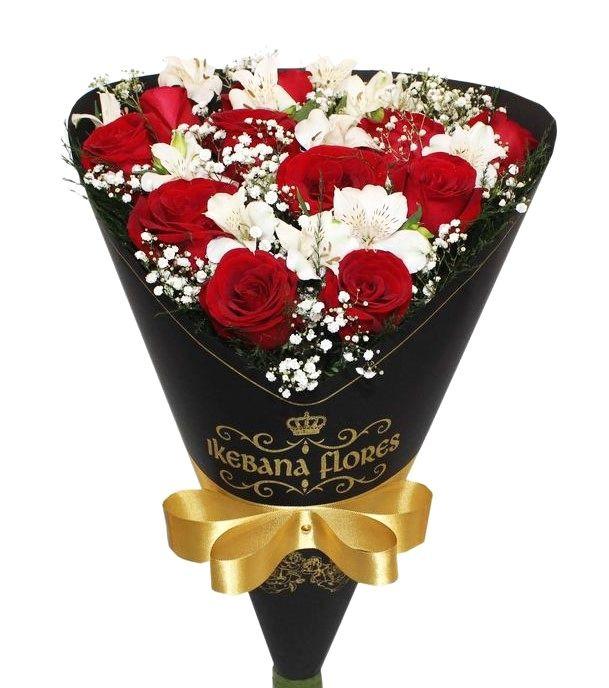 Buquê de rosas sofisticado e Luxuoso em BH