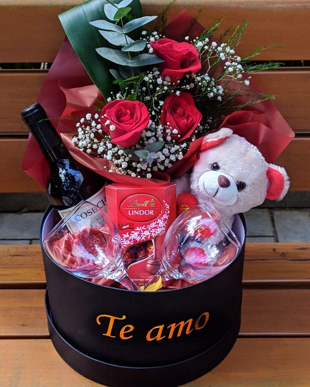 Box Rosas e Vinho