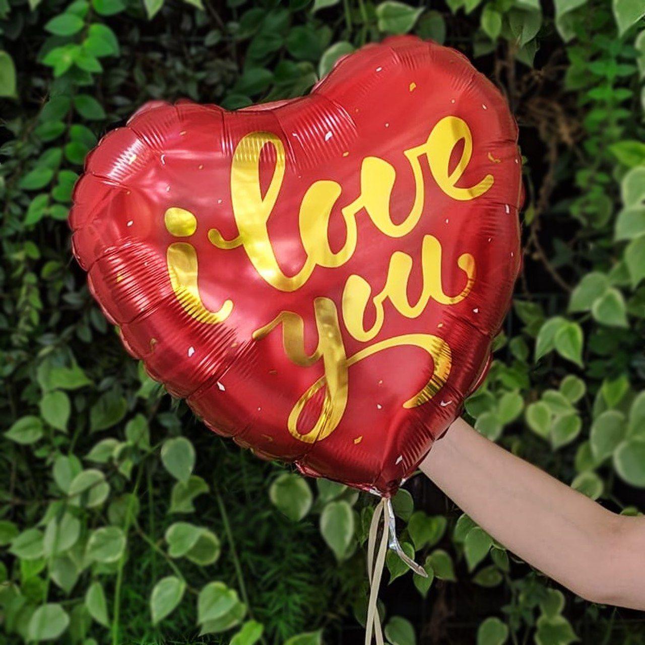 Balão de Gás Hélio - I Love You