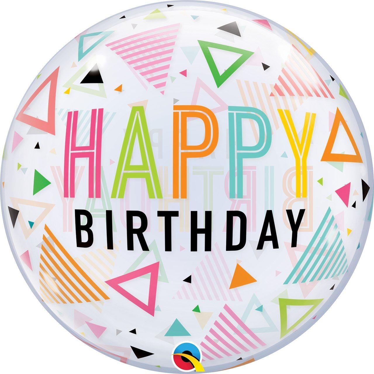 Balão Bubbles Happy Birthday - complementos