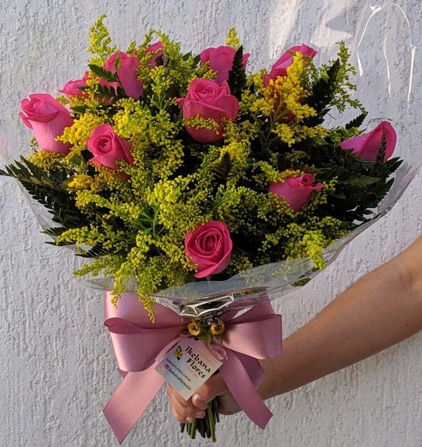Buquê Rosas Cor Rosa