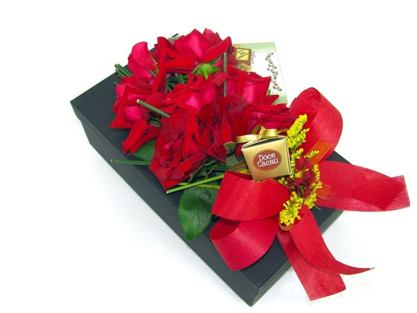 Rosas importadas na Caixa