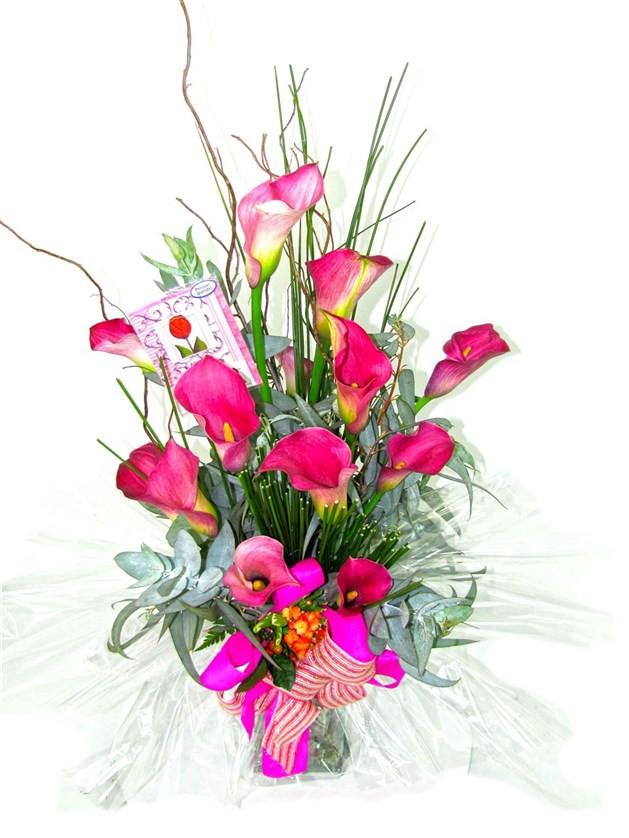 Bouquet de Callas vidro 2