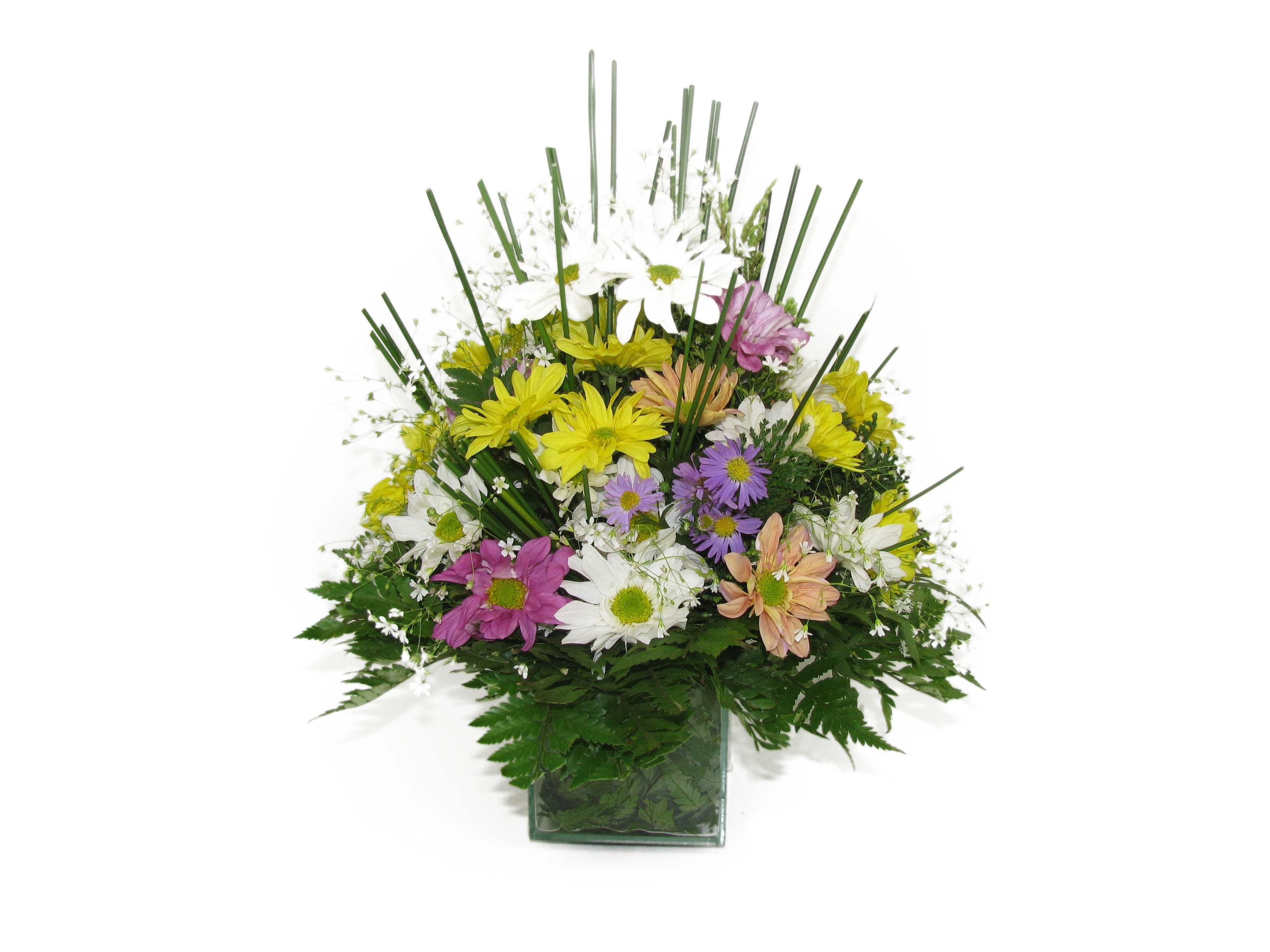 Centro de Mesa de flores do campo.