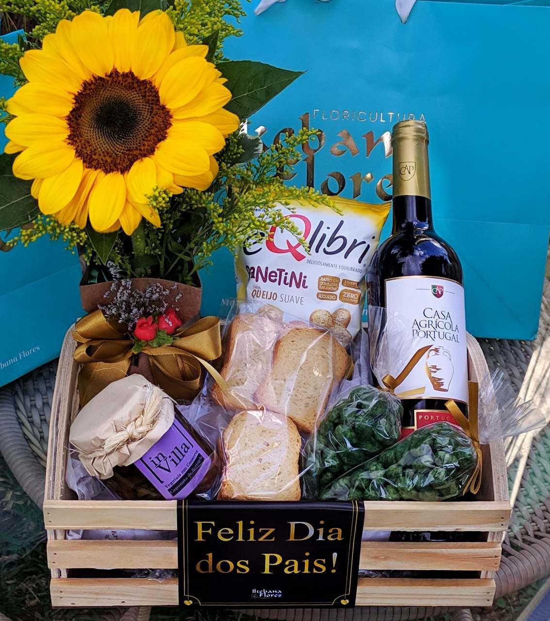 cesta de vinho - floricultura belo horizonte