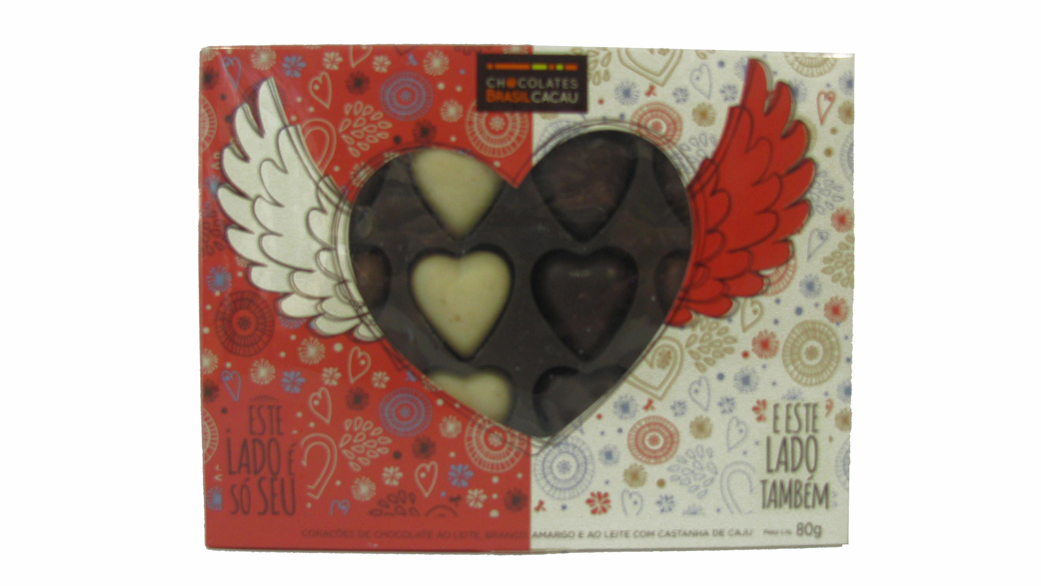 Coração de Chocolate Brasil Cacau