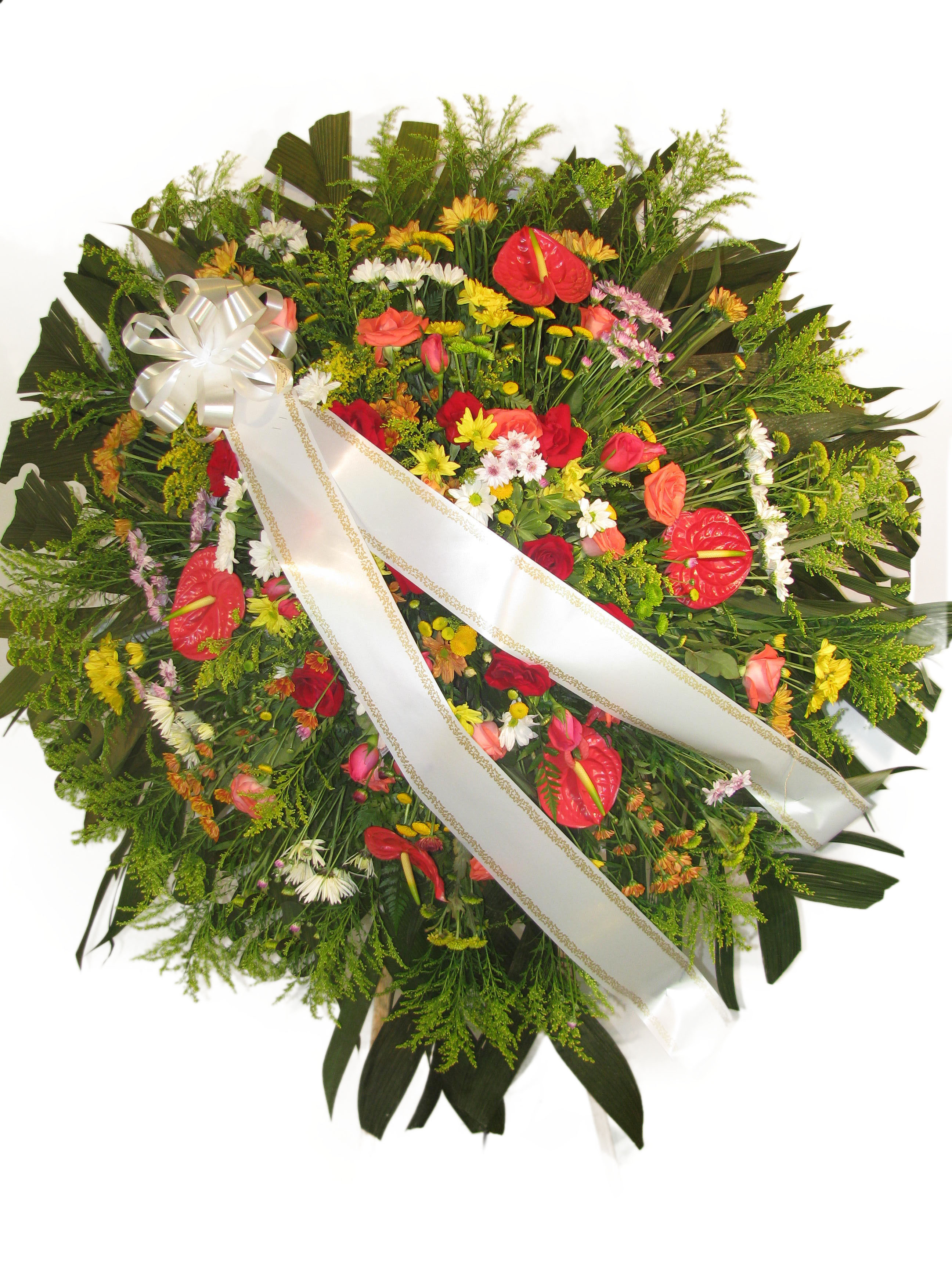 Coroa de flores tropicais