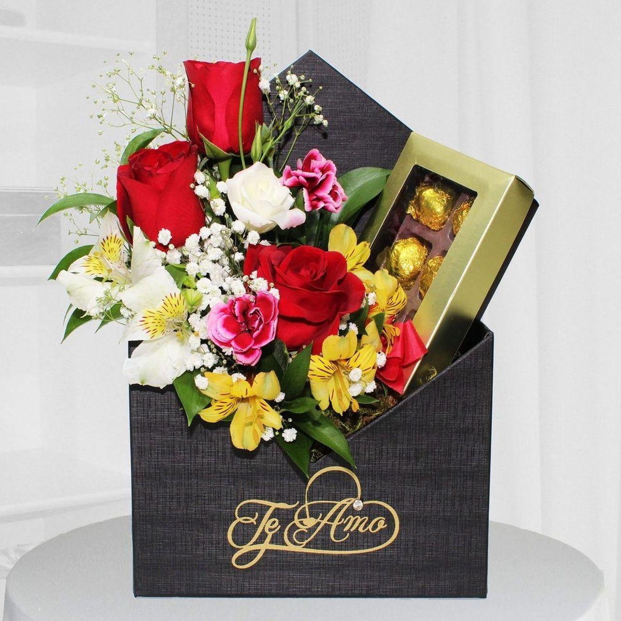 Envelope de flores com trufas