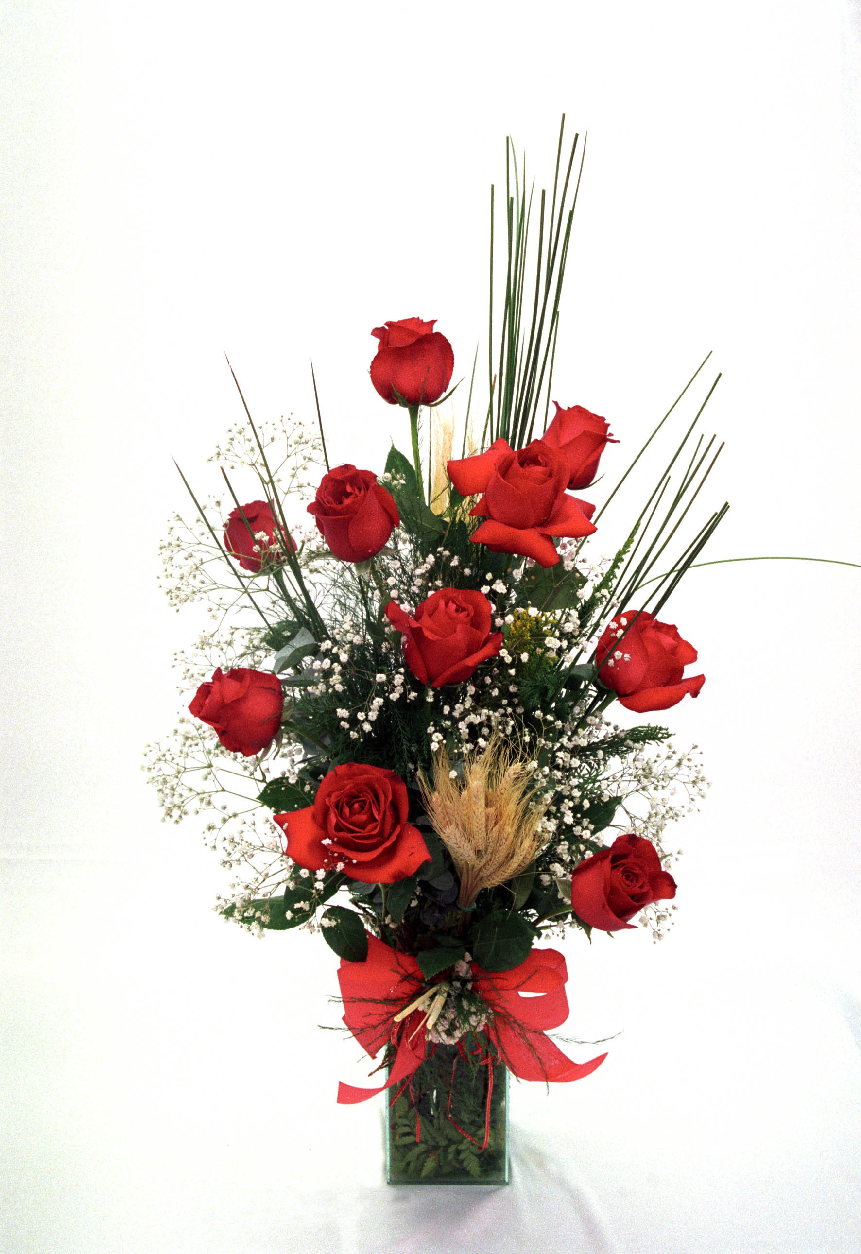 Bouquet Rosas Colombianas no Vidro - Visão Panorâmica