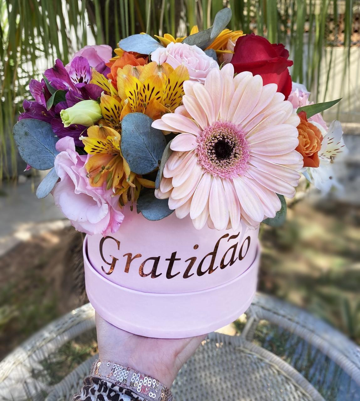 Box de flores para entrega
