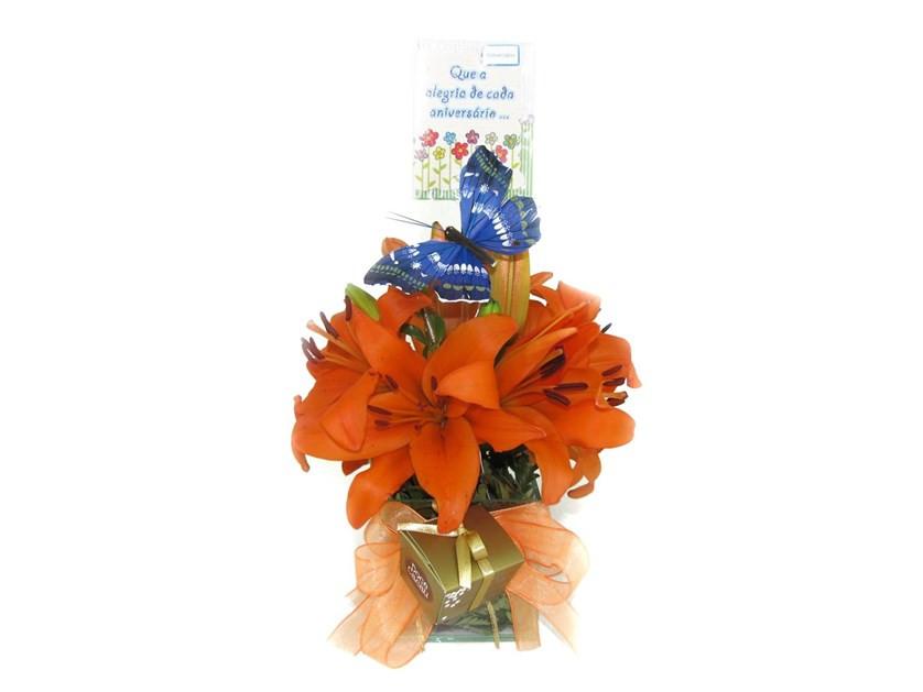 lírio laranja flor