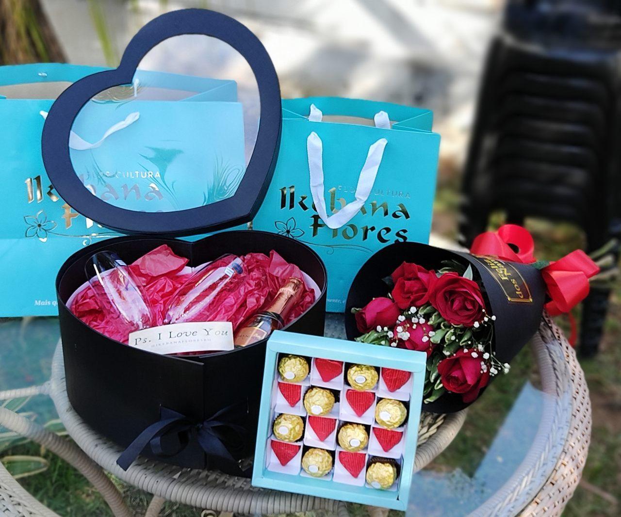 Kit com chocolates, chandon e flores para toda Belo Horizonte