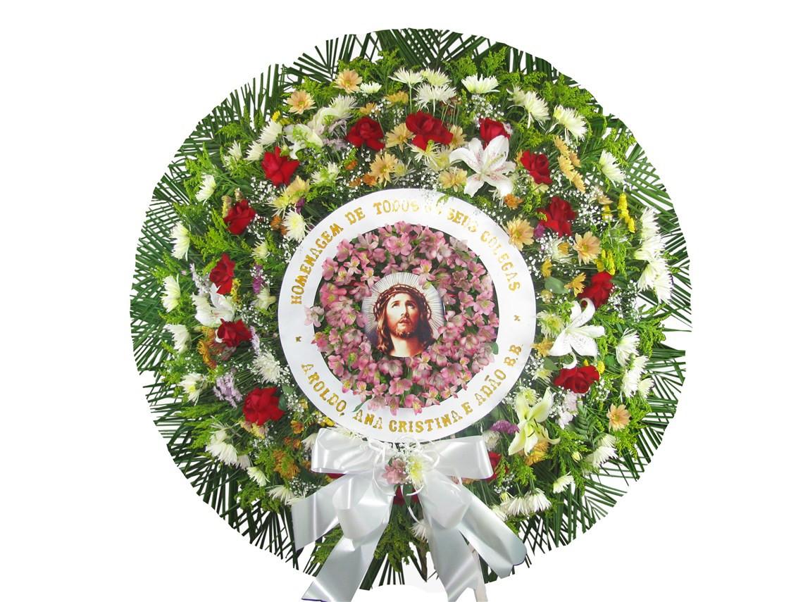 Coroa de flores jesus cristo