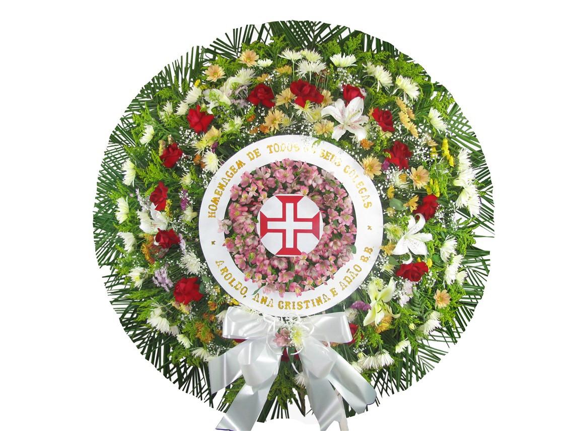 Coroa de flores Cruz