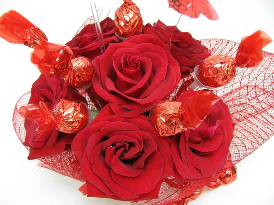 Rosas com bombons