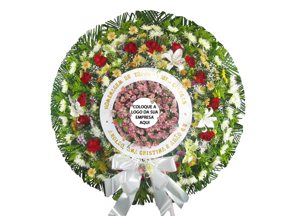 coroas de flores personalizével