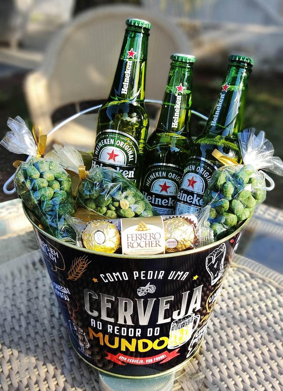 Balde com aperitivos e cervejas para Belo Horizonte