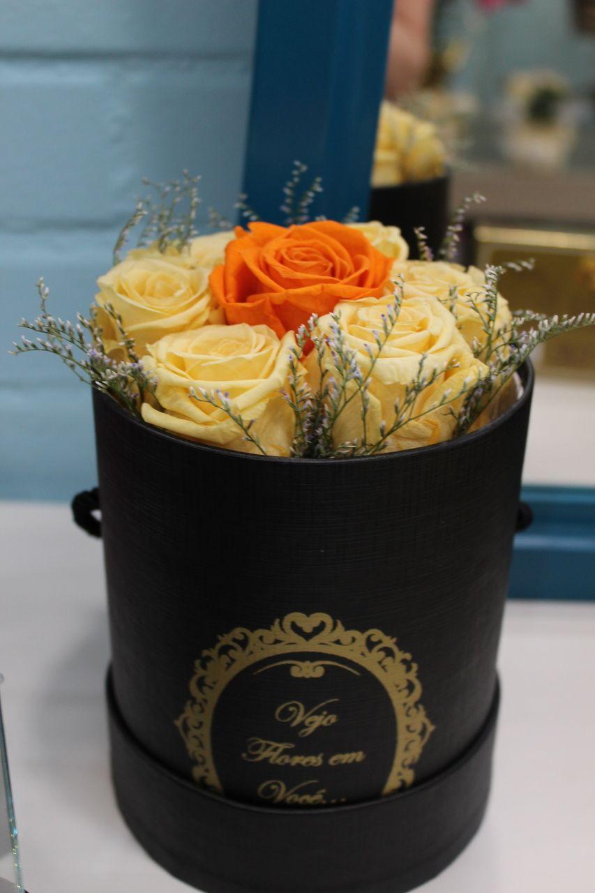 Rosas Preservadas Champagne